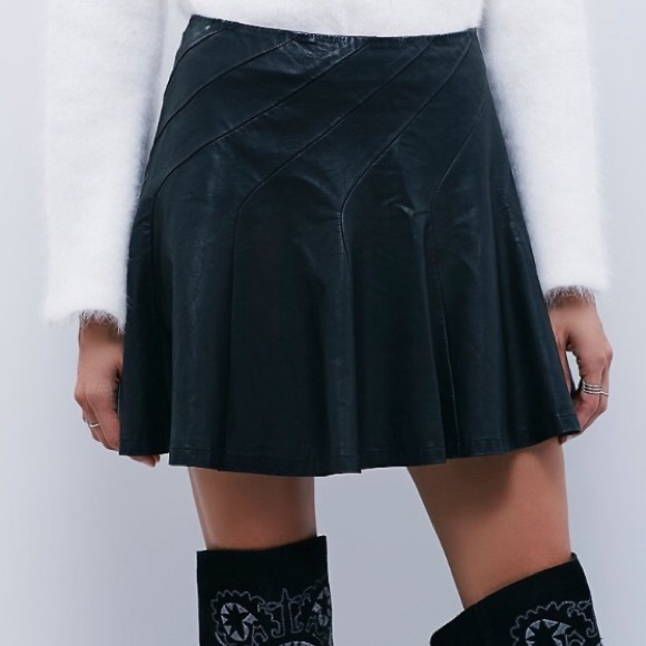 f388b18e6f8f Free People Skirts | Faux Leather About A Girl Skirt | Poshmark